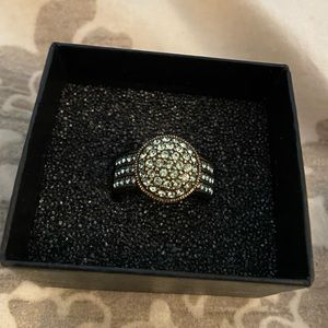 Heidi Daus Light Green Gemstone-encrusted Ring